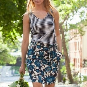 Ann Taylor Loft Floral Linen Blend Skirt